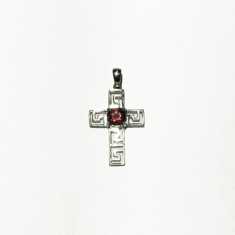 products/585_14_karat_white_gold_Art_Deco_Garnet_cross_pendant_prong_setting_standing_angle_view_web_product_Popular_Jewelry.JPG