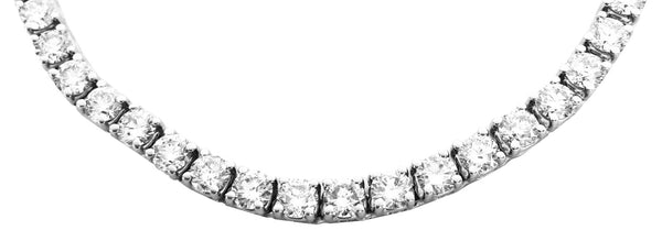 Diamond Tennis Necklace - 16.00 Cts. (14K)