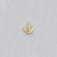 Cannabis Leaf Diamond Cut Pendant (14K) - Popular Jewelry - New York