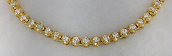 Diamond Tennis Bracelet - Belcher Setting (14K) - Popular Jewelry