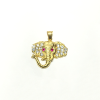 Elephant Head CZ pendant (14K) - Popular Jewelry