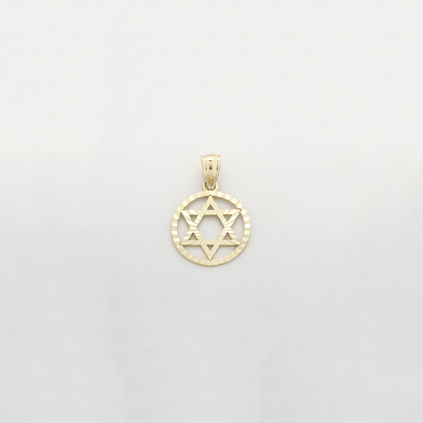 Star of David Diamond Cut Medaillon Pendant (14K) - Popular Jewelry New York