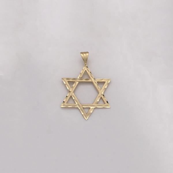 Star of David Diamond Cut Pendant (14K) - Popular Jewelry