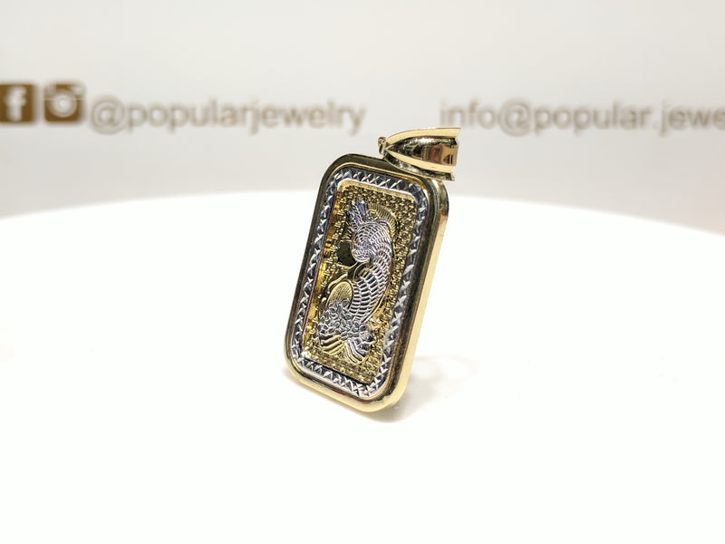 Lady Fortuna White Diamond Cut Border Pendant