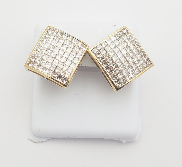 Diamond Square Earring