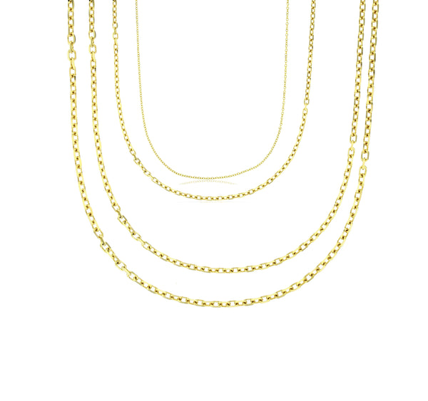 Lightweight Rolo Cable Chain (14K)