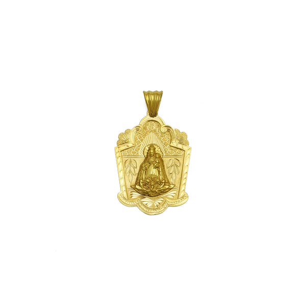 ផ្នែកខាងមុខ Caridad del Cobre Virgin Shrine Pendant (14K) - Popular Jewelry - ញូវយ៉ក
