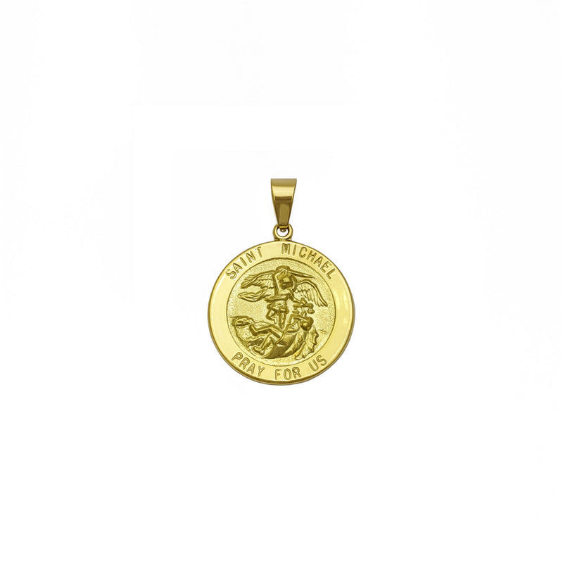 Saint Michael Medallion Pendant (18K) pem hauv ntej - Popular Jewelry - New York