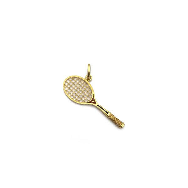 Tennis Racquet Pendant (18K) diagonal - Popular Jewelry - New York