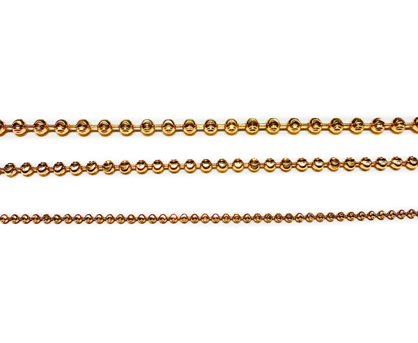 Diamond cut Ball Rose Chain (14K).