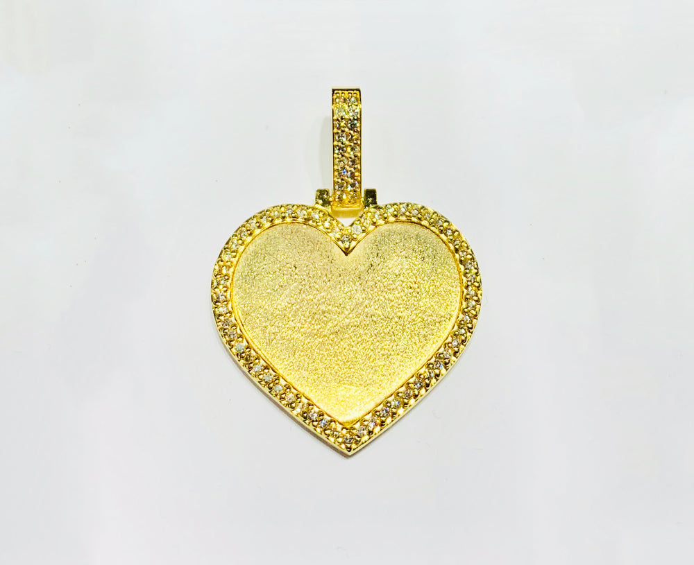 Diamond Heart picture Pendant (14K).