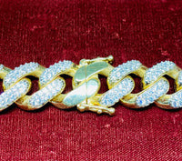 Lightweight Miami Cuban CZ Chain (14K).