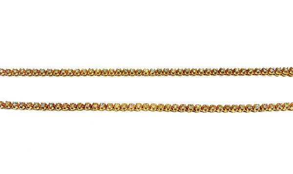 Diamond Tennis Rose Chain (14K).