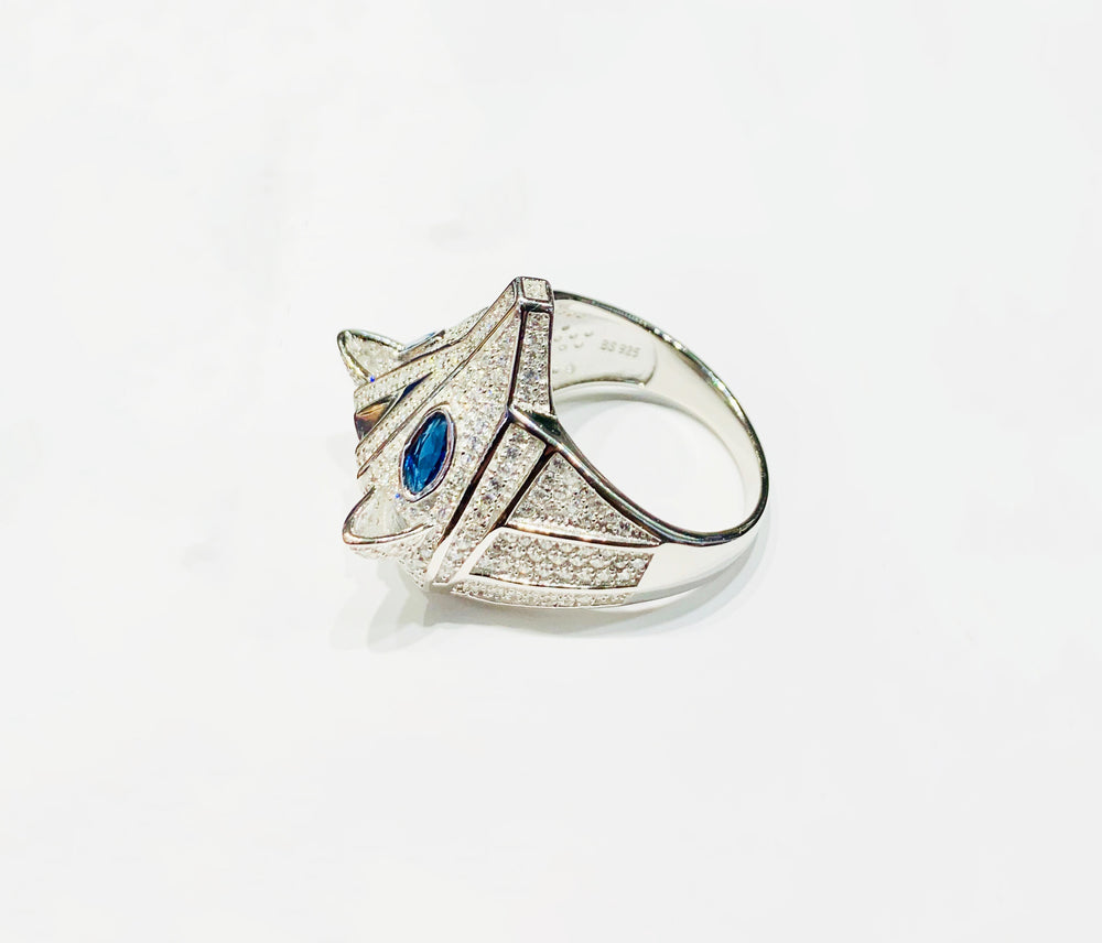 Fox Head CZ Ring (Silver).