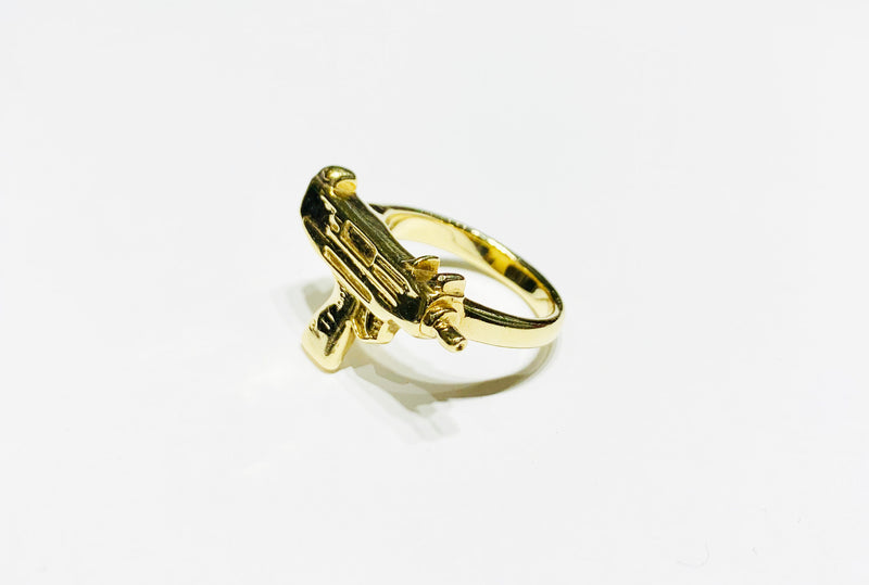Solid Uzi Ring 10K
