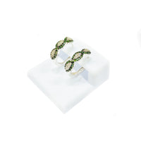 Diamond Infinity Earrings (14K).