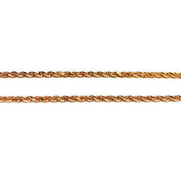 Solid Rope Rose Chain (14K)