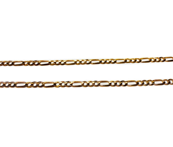 Figaro Link Chain (14K Rose Gold)