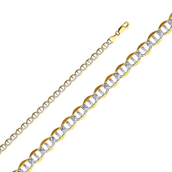 Two-tone Solid Flat Marine Gucci Bracelet (14K)
