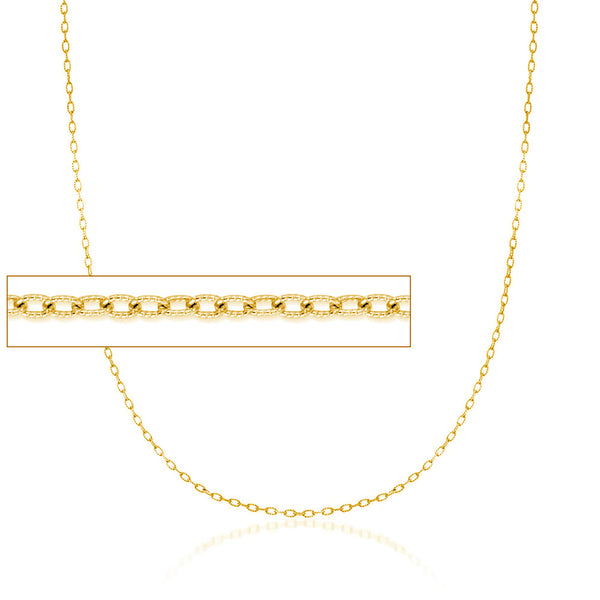 Diamond Cuts Textured Cable Chain (14K)