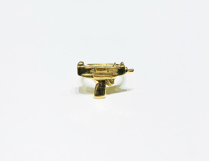 Solid Uzi Ring 10K - Lucky Diamond 恆福珠寶金行 New York City 169 Canal Street 10013 Jewelry store Playboi Charlie Chinatown @luckydiamondny 2124311180