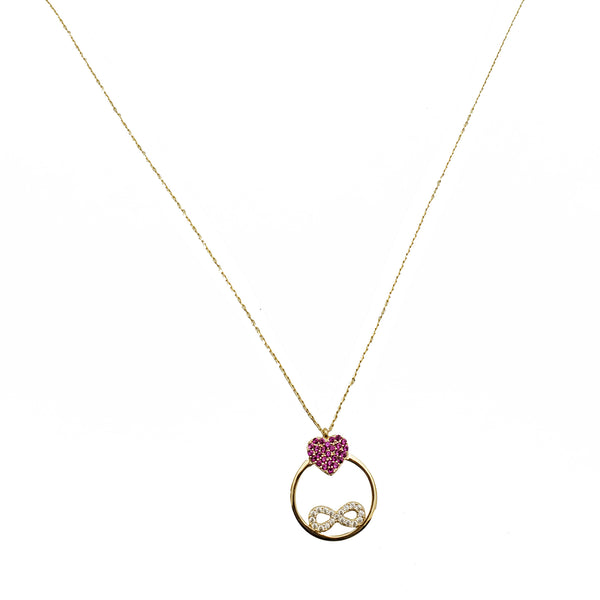 Infinity & Heart Fancy Necklace (14K)