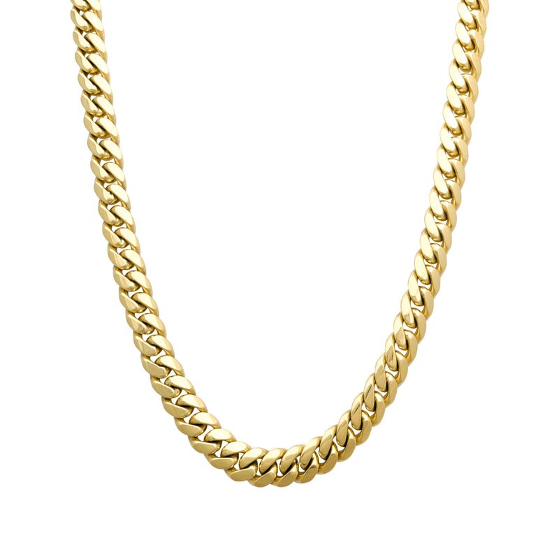 Solid Miami-Cuban Link Chain (14K Yellow Gold)