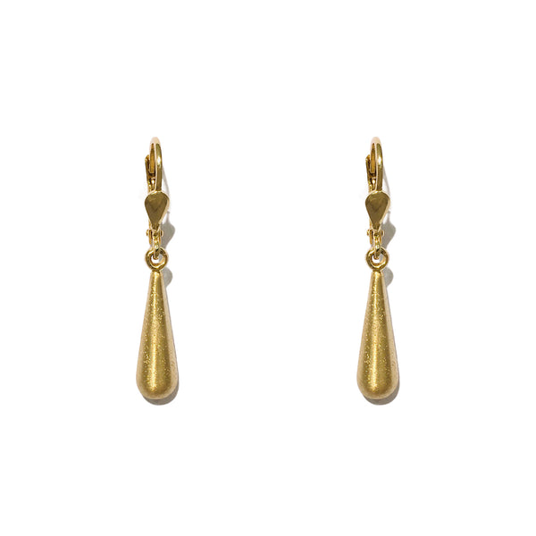 Glitterende Teardrop Dangling earringen (Sulver) front - Popular Jewelry - New York