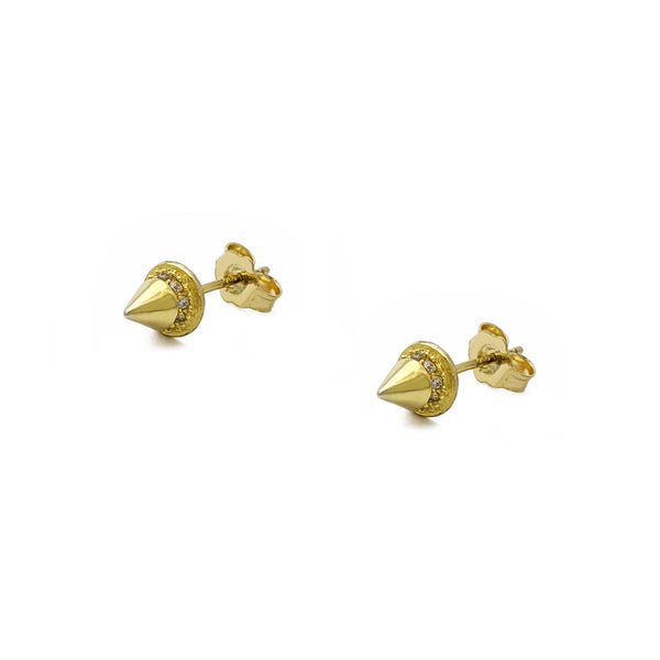 Brincos Icy Spike Stud (Prata) - Popular Jewelry - New York