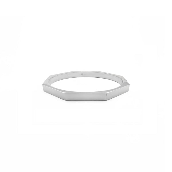Slim Octagon Bangle (Sëlwer) vir - Popular Jewelry - New York