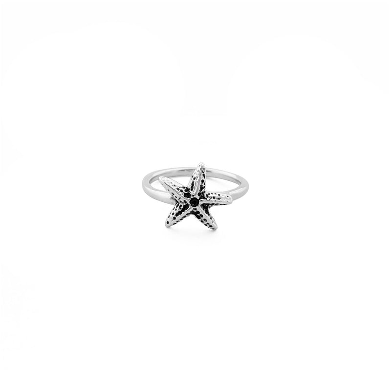 Starfish Antique Ring (Silver) front - Popular Jewelry - New York
