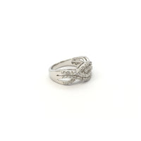Double Twisted Vine CZ Ring (Silver) side - Popular Jewelry - New York