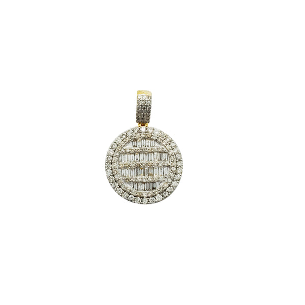 Baguette & Round Brilliant Diamond Picture Pendant (14K)