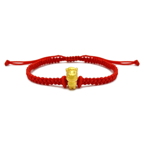Little Horse Chinese Zodiac Red String Bracelet (24K) voorkant - Popular Jewelry - New York