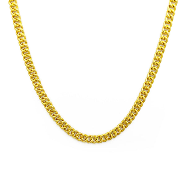 Cuban Link Solid Chain (24K) spredaj - Popular Jewelry - New York