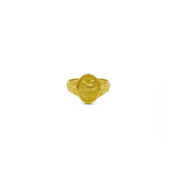 Hibiscus Flowered Bird Ring (24K) framan - Popular Jewelry - Nýja Jórvík