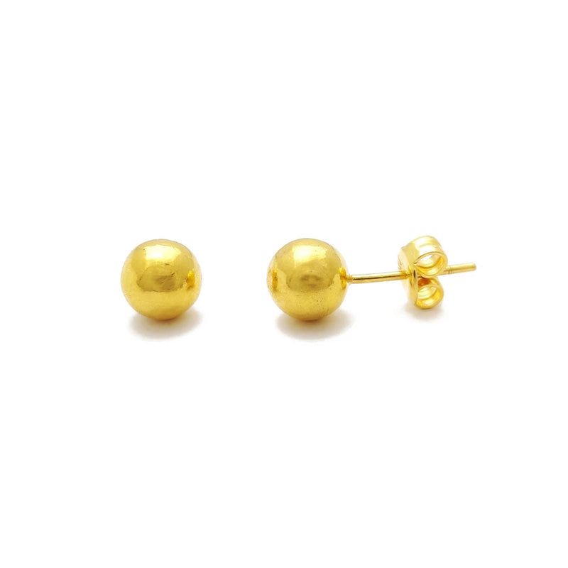 Ball Stud Earrings Extra-Large (24K) front - Popular Jewelry - New York