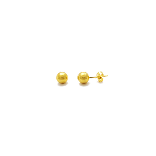 Ball Stud Earrings Small (24K) front - Popular Jewelry - New York