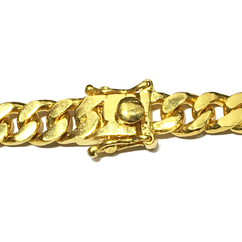 24K Yellow Gold Solid Bracelet - Popular Jewelry