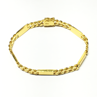 24K giele gouden solide armband - Popular Jewelry
