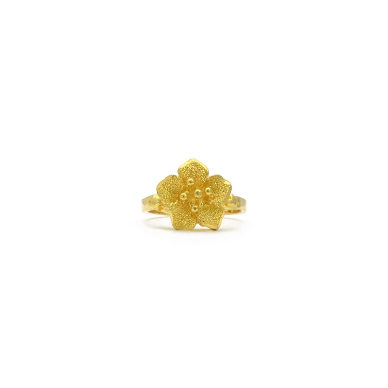 Flickering Cherry Blossom Ring (24K) front - Popular Jewelry - New York