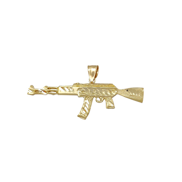 AK-47 Rifle Pendant (10K) Popular Jewelry New York