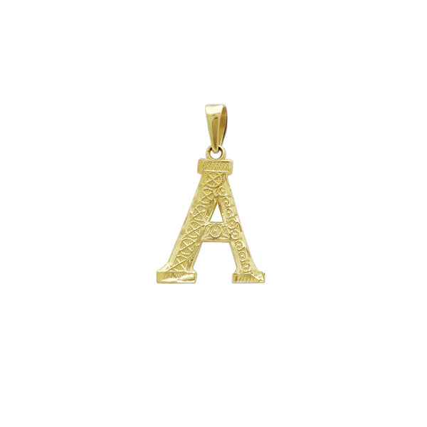 Pingente de letras iniciais (14K) Popular Jewelry New York