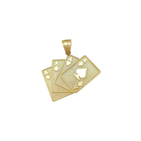 Small Ace of Spades Pendant (10K) Popular Jewelry New York