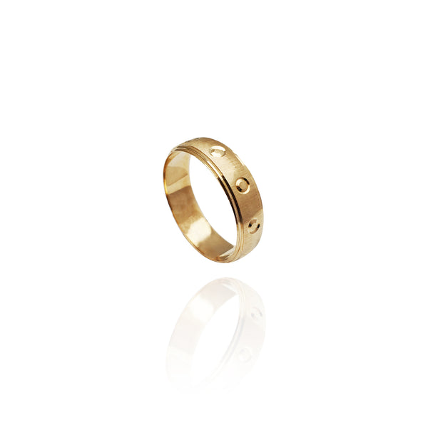 All Around Stamped Band (14K)