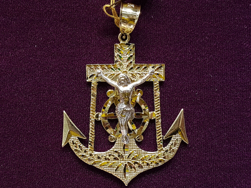 products/Anchor-Pendant-Jesus-White-Yellow-Two-Tone-Cut-10K-Gold.jpg