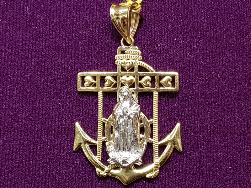 products/Anchor-Pendant-Virgin-Mary-White-Gold-Yellow-10K-14K-10-14-karat.jpg
