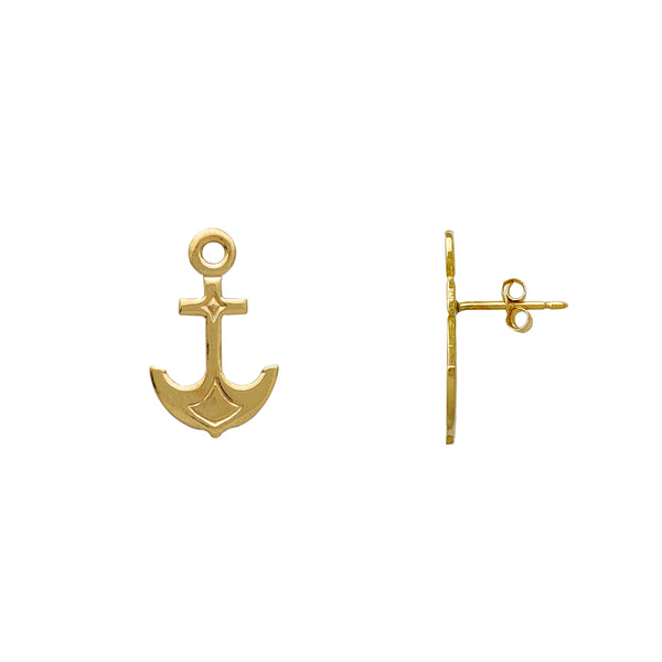 Anchor Stud Earrings (14K) Popular Jewelry New York