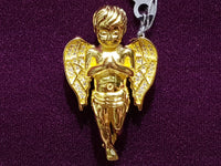 Iced-Out Praying Angel Pendant Silver - Lucky Diamond 恆福 珠寶 金 行 New York City 169 Canal Street 10013 Juwelierswinkel Playboi Charlie Chinatown @luckydiamondny 2124311180