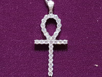 Icy Ankh Pendant Silver - Popular Jewelry